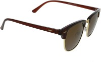 Vast cm_brown_gold_brown_clubmaster Wayfarer Sunglasses(Brown)