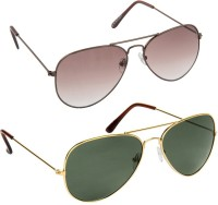 Blackburn BB20BrnBrnGradient-BB7GoldG15-Combo Aviator, Spectacle  Sunglasses(For Boys)