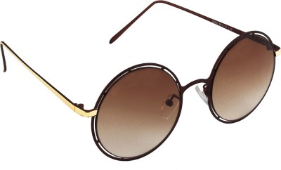 6by6 SG1680 Round Sunglasses(Brown)