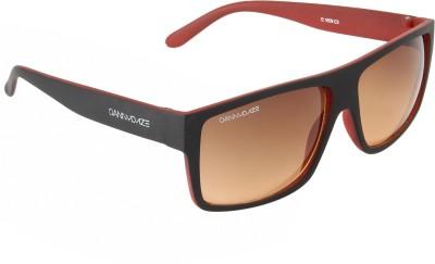 Danny Daze D-3224-C2 Rectangular Sunglasses(Brown)