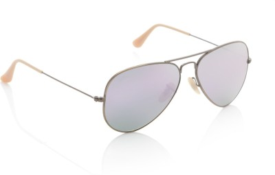 Ray-Ban 0RB3025167/4K58 Aviator Sunglasses(Violet)
