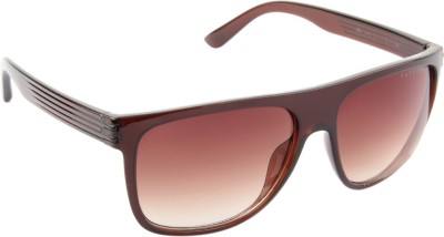 Farenheit 1212-C3 Rectangular Sunglasses(Brown)