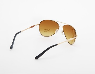 Floyd 2196-GOLDEN-BROWN Aviator Sunglasses(Brown)
