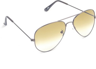 6by6 SG454 Aviator Sunglasses(Brown)
