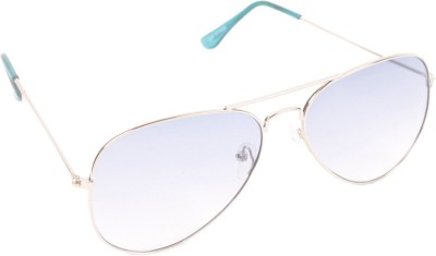 6by6 SG257 Aviator Sunglasses(Clear, Blue)