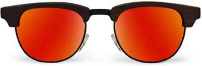 Tocca di Legno Fabio Red ClubMaster Rectangular Sunglasses