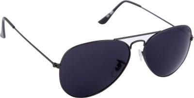 Gansta Gansta NXT-MH-1001 Elegent Grey with Grey Polarised lens aviator sunglass Aviator Sunglasses(Blue)
