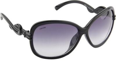 Voyage MG 813 Rectangular Sunglasses(Black)