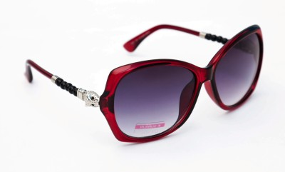 TheWhoop Designer Red Violet Over-sized Sunglasses