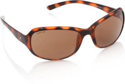 Fastrack P180BR1F Rectangular Sunglasses(Brown)