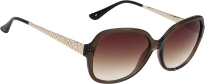 Fave FV010F01 Oval Sunglasses(Brown)