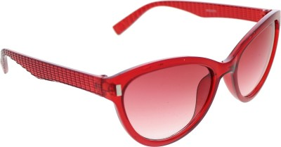 Vast WOMENS _3075_PIN_CATEYE_RED_GLARES Wayfarer Sunglasses(Grey)