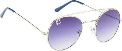 Clark N, Palmer Panto Blue Gradient RH 161 Oval Sunglasses