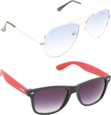 Voyage 3025-MG376 Aviator Sunglasses(Blue)