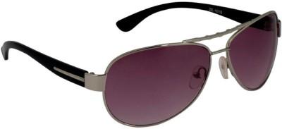 Gansta Gansta ZE-1010 Silver & Purple sunglass Rectangular Sunglasses(Violet)