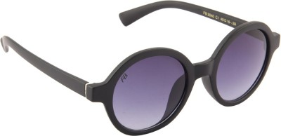 Funky Boys 3040-C1 Round Sunglasses(Violet)