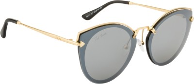 Ted Smith TS-79171/S_C7 Cat-eye Sunglasses(Grey, Silver)