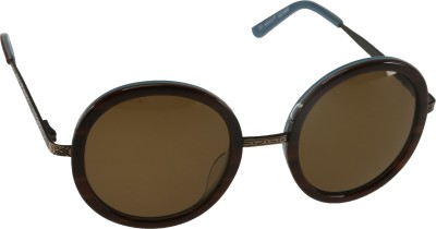 Mango Pickles RO-5008-Brown-Blue Round Sunglasses(Brown)