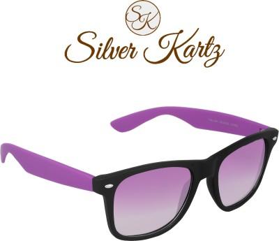 Silver Kartz Beach Sky Blue Wayfarer, Rectangular Sunglasses