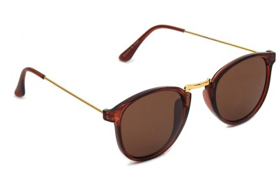 6by6 SG1185 Round Sunglasses(Brown)