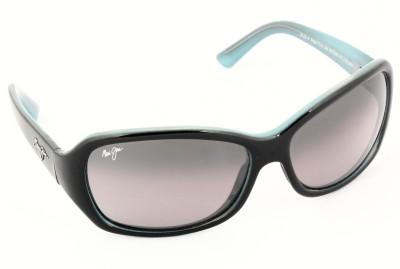 Maui Jim PEARL-CITY-MJ214-03A Rectangular Sunglasses(Grey) image