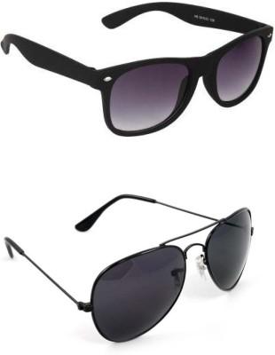 Candid COMBO PACK Wayfarer, Aviator Sunglasses(For Boys)