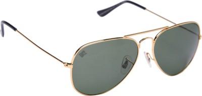 MTV MTV-123-C9 Aviator Sunglasses(Green)