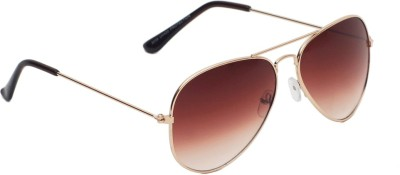 6by6 SG1475 Aviator Sunglasses(Brown)