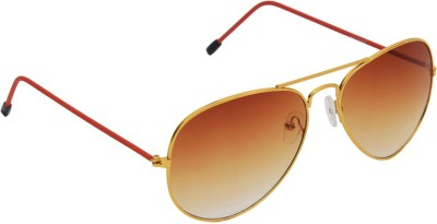 6by6 SG1227 Aviator Sunglasses(Brown)