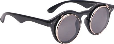 Suiss Blanc RNDDLBLK Round Sunglasses