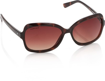 Fastrack P183BR1F Over-sized Sunglasses(Brown)