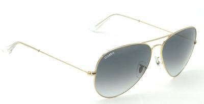 IZARRA Large Gradiant Aviator Sunglasses