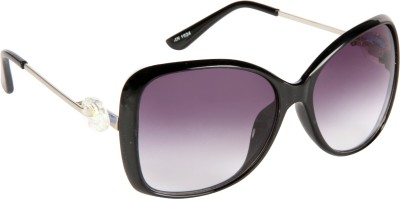 Cristiano Ronnie Black Rectangular Sunglasses