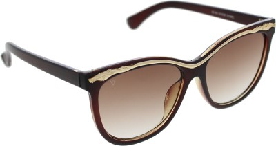 Vast Women_96022_BROWNGOLD Over-sized Sunglasses(Brown)
