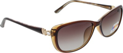 Vast WOMENS _POLO_705_C2_BROWN Cat-eye Sunglasses(Brown)