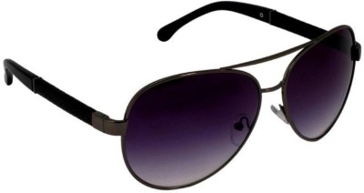Gansta Gansta MH-1006 Grey aviator sunglass Aviator Sunglasses(Brown)