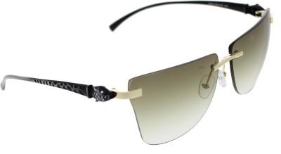 Vast 6809_PANTHER_RIMLESS_GLDSLVRGRN_W Over-sized Sunglasses(Green)