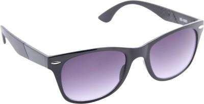 Gansta Gansta ZE-1023 Black wayfarer sunglass with gradient lens Wayfarer Sunglasses(Grey)