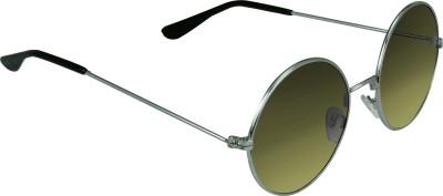 Garmor (8903522114908 /Green Color Silver Frame) Round Sunglasses