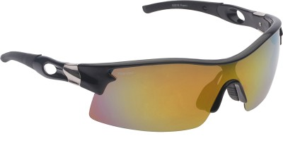Vast Polarized Premium Sports All Wrap-around Sunglasses(Orange)