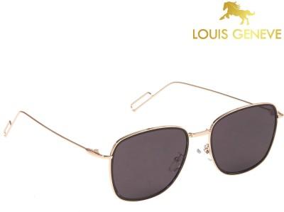 Louis Geneve Luxury Series Golden Frame with Black Lens Cat-eye Sunglasses