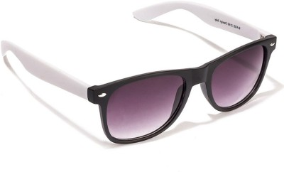 Allen Cate Black White Side Wayfarer Sunglasses