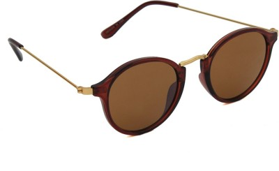 6by6 SG1216 Round Sunglasses(Brown)