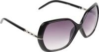 Zyaden SW264 Rectangular Sunglasses(Black)