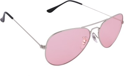 Imagica Silver Aviator Sunglasses