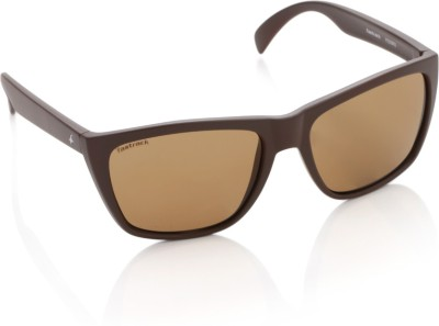 Fastrack P230BR2 Rectangular Sunglasses(Brown)