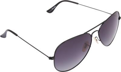 PANACHE Thin Wire Black Frame-Grey Gradient Polarised Lens Aviator Sunglasses