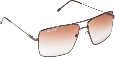Danny Daze D-008-C7 Aviator Sunglasses(Brown)