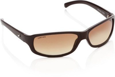 Fastrack P103BR2 Wrap-around Sunglasses(Brown)