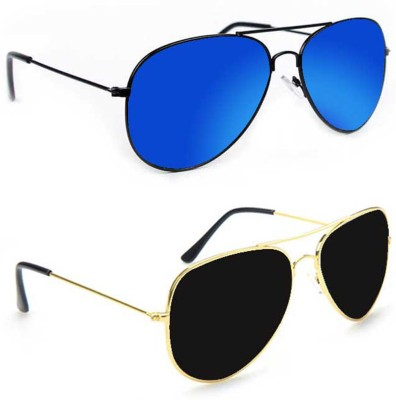 Epic Ink aset2061 Aviator Sunglasses(Blue, Black)